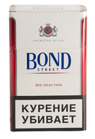 Сигареты BOND Street Red Selection Смола 10 мг/сиг, Никотин 0,7 мг/сиг, СО 10 мг/сиг.