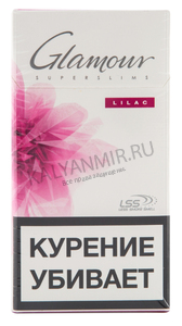 Купить Сигареты GLAMOUR Lilas Super Slims Смола 5 мг/сиг, Никотин 0,5 мг/сиг, СО 5 мг/сиг.