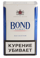 Сигареты BOND Street Blue Selection Смола 6 мг/сиг, Никотин 0,5 мг/сиг, СО 7 мг/сиг.