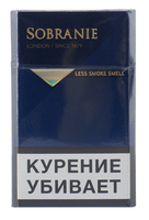 Сигареты SOBRANIE London Blue  Смола 5 мг/сиг, Никотин 0,5 мг/сиг, СО 6 мг/сиг.