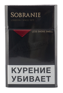Купить Сигареты SOBRANIE Black London  Смола 8 мг/сиг, Никотин 0,7 мг/сиг, СО 9 мг/сиг.