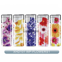 Зажигалка LUXLITE XHD 101 WP FLOWERS WITH LABLE