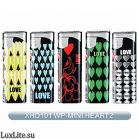 Зажигалка LUXLITE XHD 101 WP MINI HEART-2 мини сердца