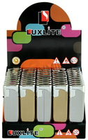 Зажигалка LUXLITE XHD 109 WP GOLD SILVER STRIPE WITH LABLE в полоску