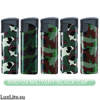 Зажигалка LUXLITE XHD 109 WP MILITARY BLACK CAP камуфляж
