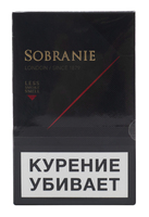 Сигареты SOBRANIE KS Mini Super Slims Black Смола 4 мг/сиг, Никотин 0,4 мг/сиг, СО 3 мг/сиг.
