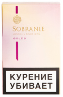 Сигареты SOBRANIE KS Mini Super Slims Gold Смола 4 мг/сиг, Никотин 0,4 мг/сиг, СО 3 мг/сиг.