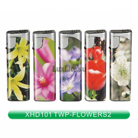 Зажигалка LUXLITE XHD 101 WP FLOWERS-2 цветы