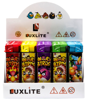 Зажигалка LUXLITE X7 WP ANGRY BIRDS-5 COLORS