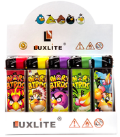 Зажигалка LUXLITE X7 WP ANGRY BIRDS BLACK