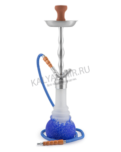 Купить Кальян KAYA PN 630 Frosted Blue Nest Chrome 70 см