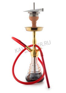 Купить Кальян AMY DELUXE Small Rips 470 Gold-Red 50 см + Hot Screen