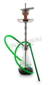 Купить Кальян AMY DELUXE Big Rips 680 Silver-Green 68 см + Hot Screen