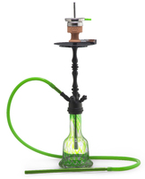 Кальян AMY DELUXE 043 Luxus Shisha Black-Green Click 73 см + Hot Screen