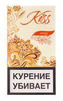 Сигареты KISS Energy Super Slims Смола 5 мг/сиг, Никотин 0,5 мг/сиг, СО 5 мг/сиг.