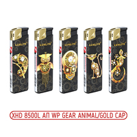 Зажигалки пьезо XHD 8500L АП WP GEAR ANIMAL/GOLD CAP
