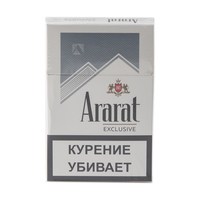 Сигареты ARARAT Exclusive Ultra Slims Смола 4 мг/сиг, Никотин 0,4 мг/сиг, СО 4 мг/сиг.