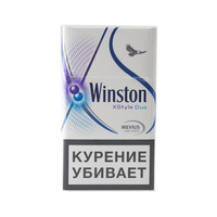 Сигареты WINSTON XStyle Plus Duo Смола 6 мг/сиг, Никотин 0,4 мг/сиг, СО 5 мг/сиг.