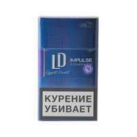 Сигареты LD Club Compact IMPULSE Select Смола 6 мг/сиг, Никотин 0,5 мг/сиг, СО 5 мг/сиг.